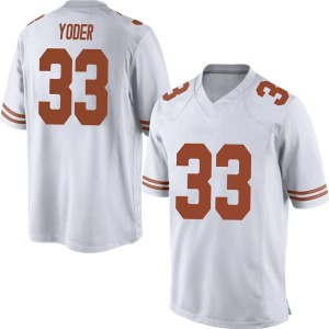 Tim Yoder Nike Texas Longhorns Men's Replica Mens Football College Jersey - White