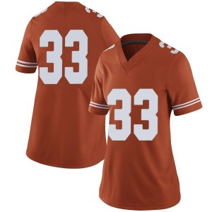 Tim Yoder Nike Texas Longhorns Women's Limited Women Football College Jersey - Orange