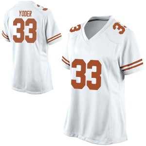 Tim Yoder Nike Texas Longhorns Women's Replica Football College Jersey - White