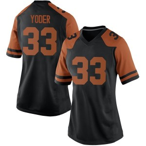 Tim Yoder Nike Texas Longhorns Women's Replica Women Football College Jersey - Black