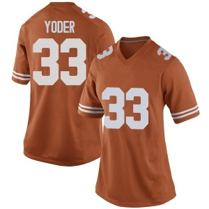 Tim Yoder Nike Texas Longhorns Women's Replica Women Football College Jersey - Orange
