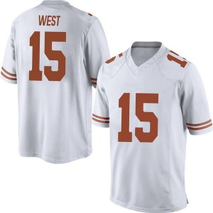 Travis West Nike Texas Longhorns Men's Replica Mens Football College Jersey - White