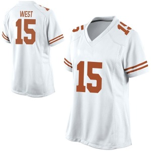 Travis West Nike Texas Longhorns Women's Game Football College Jersey - White
