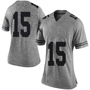 Travis West Nike Texas Longhorns Women's Limited Women Football College Jersey - Gray