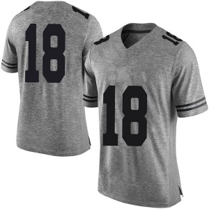 Tremayne Prudhomme Nike Texas Longhorns Men's Limited Mens Football College Jersey - Gray