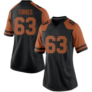 Troy Torres Nike Texas Longhorns Women's Game Women Football College Jersey - Black