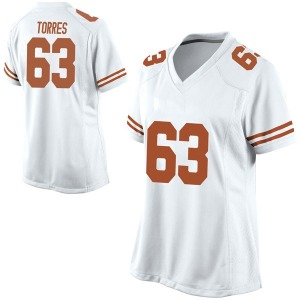 Troy Torres Nike Texas Longhorns Women's Replica Football College Jersey - White