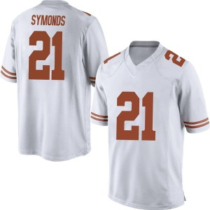 Turner Symonds Nike Texas Longhorns Men's Replica Mens Football College Jersey - White