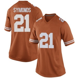 Turner Symonds Nike Texas Longhorns Women's Game Women Football College Jersey - Orange