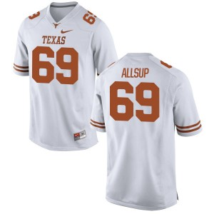 Austin Allsup Nike Texas Longhorns Men's Replica Football Jersey  -  White