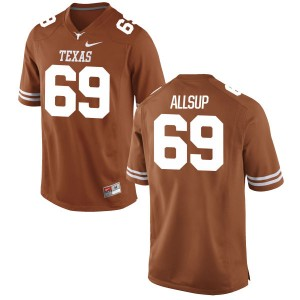 Austin Allsup Nike Texas Longhorns Youth Game Football Jersey - Tex - Orange