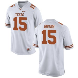 Chris Brown Nike Texas Longhorns Men's Replica Football Jersey  -  White
