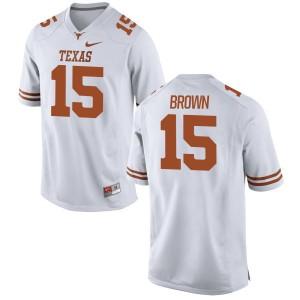 Chris Brown Nike Texas Longhorns Men's Game Football Jersey  -  White