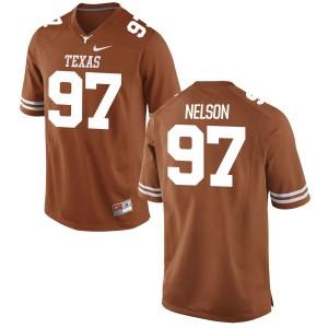 Chris Nelson Nike Texas Longhorns Men's Replica Football Jersey - Tex - Orange