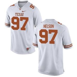Chris Nelson Nike Texas Longhorns Men's Replica Football Jersey  -  White