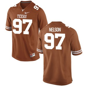 Chris Nelson Nike Texas Longhorns Men's Limited Football Jersey - Tex - Orange