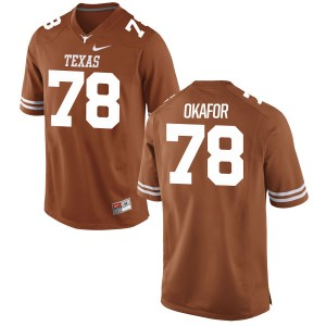Denzel Okafor Nike Texas Longhorns Men's Game Football Jersey - Tex - Orange