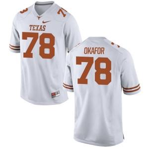 Denzel Okafor Nike Texas Longhorns Women's Game Football Jersey  -  White