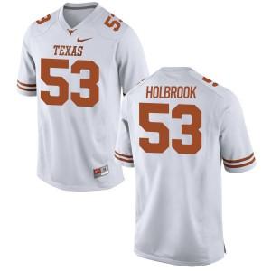 Jak Holbrook Nike Texas Longhorns Men's Game Football Jersey  -  White