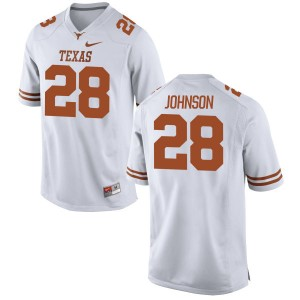 Kirk Johnson Nike Texas Longhorns Men's Replica Football Jersey  -  White