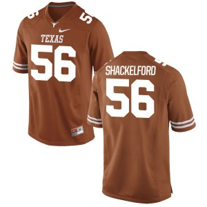 Zach Shackelford Nike Texas Longhorns Men's Replica Football Jersey - Tex - Orange