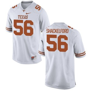 Zach Shackelford Nike Texas Longhorns Men's Replica Football Jersey  -  White